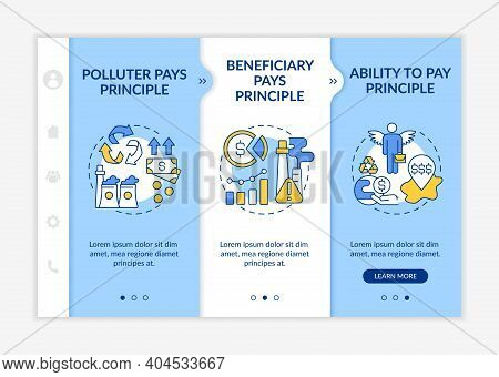 Developing Countries Onboarding Vector Template. Responsive Mobile Website With Icons. Environmental