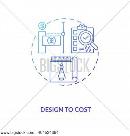Design To Cost Concept Icon. Cost Reduction Strategy Idea Thin Line Illustration. Service Optimizati