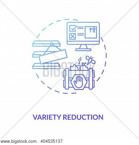 Variety Reduction Concept Icon. Cost Reduction Strategy Idea Thin Line Illustration. Value Chain Com