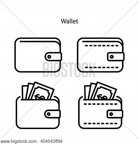 Wallet Icon Isolated On White Background From Business Collection. Wallet Icon Trendy And Modern Wal