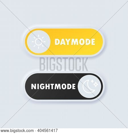 Day Night Switch. Day Mode And Night Mode Switch Button. Minimalist Switch Button In Neumorphism Des