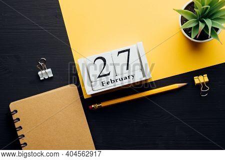 Twenty Seventh Day Of Winter Month Calendar February.
