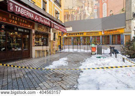 Filomena, Historic Great Snowfall In Madrid