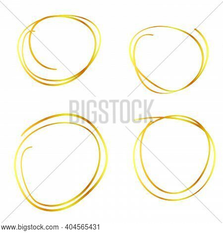 Vector Golden Multiple Line Circle Frame For Certificate, Placard Go Xi Fat Cai, Imlek Moment Or Oth
