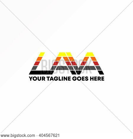 Lava Logo. Lava Font Design. Colorful Image. Abstract Concept And Combination Of Lava Letters. Can B