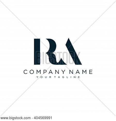Initial Letter Ra Typography Logo Design Vector