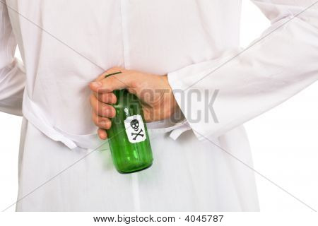 Hand With Green Bottle