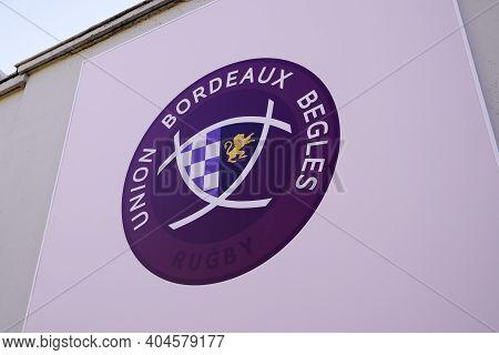 Bordeaux , Aquitaine  France - 01 18 2021 : Ubb Rugby Bordeaux Union Begles Logo Brand And Text Sign