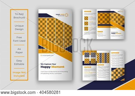 Photography Tri-fold Brochure Design Template, Creative Trifold Brochure