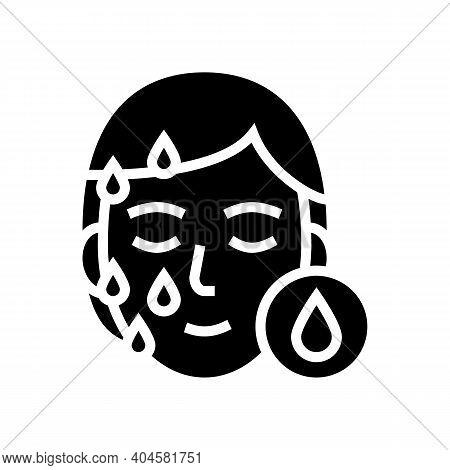Moisturizing Procedure Glyph Icon Vector. Moisturizing Procedure Sign. Isolated Contour Symbol Black