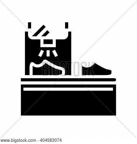 Shoes Painting Equipment Glyph Icon Vector. Shoes Painting Equipment Sign. Isolated Contour Symbol B