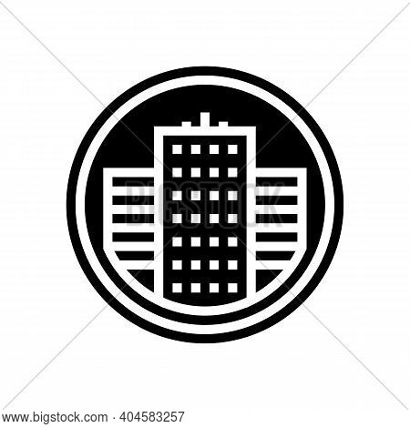 City Business Center Sign Glyph Icon Vector. City Business Center Sign Sign. Isolated Contour Symbol