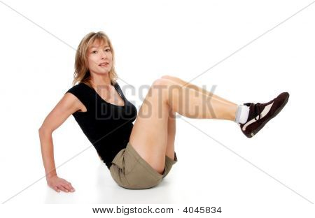 Woman Doing Leg Raise
