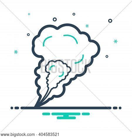 Mix Icon For Smoke Steam Fog Haze