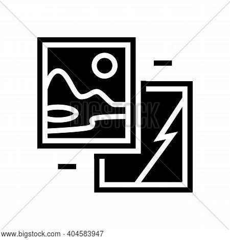 Paintings Museum Exhibit Glyph Icon Vector. Paintings Museum Exhibit Sign. Isolated Contour Symbol B
