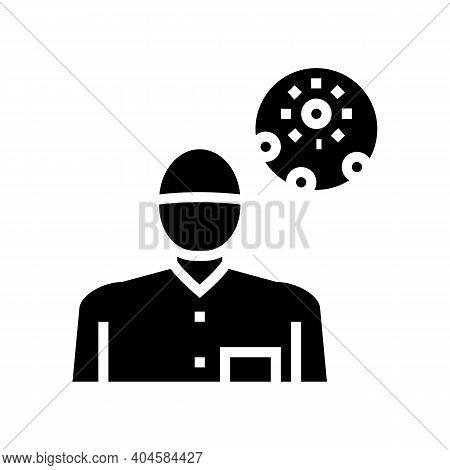 Dermatology Medical Specialist Glyph Icon Vector. Dermatology Medical Specialist Sign. Isolated Cont