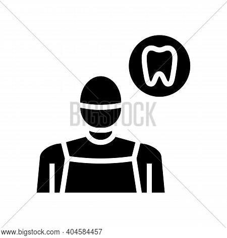 Stomatology Medical Specialist Glyph Icon Vector. Stomatology Medical Specialist Sign. Isolated Cont