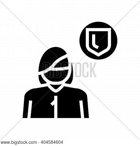 Preventive Medicine Specialist Glyph Icon Vector. Preventive Medicine Specialist Sign. Isolated Cont