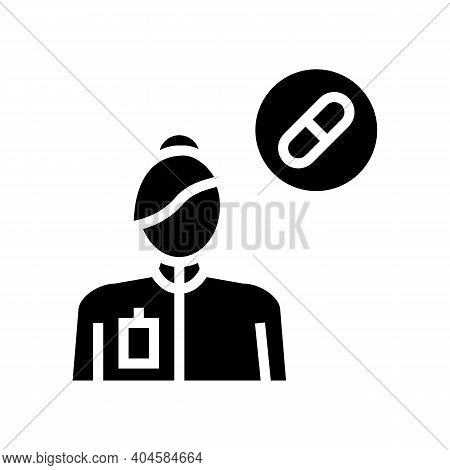 Pharmacology Medical Specialist Glyph Icon Vector. Pharmacology Medical Specialist Sign. Isolated Co