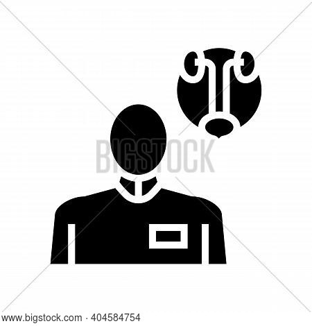 Urology Medical Specialist Glyph Icon Vector. Urology Medical Specialist Sign. Isolated Contour Symb