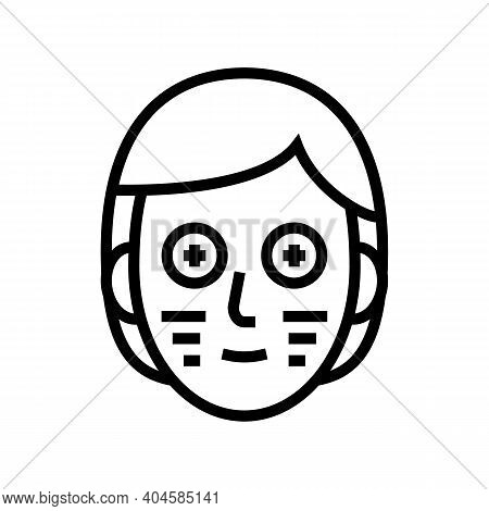 Facial Vitamin Mask Line Icon Vector. Facial Vitamin Mask Sign. Isolated Contour Symbol Black Illust
