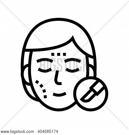 Plastic Surgery Line Icon Vector. Plastic Surgery Sign. Isolated Contour Symbol Black Illustration