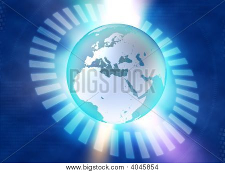 Binary Blue Earth