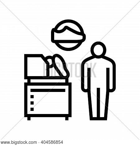 Shoes Make Equipment Control Line Icon Vector. Shoes Make Equipment Control Sign. Isolated Contour S