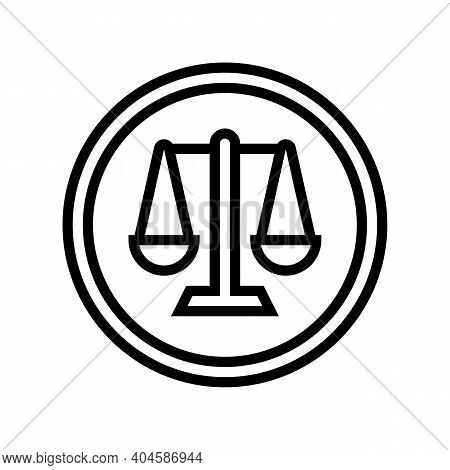 Court Sign Line Icon Vector. Court Sign Sign. Isolated Contour Symbol Black Illustration