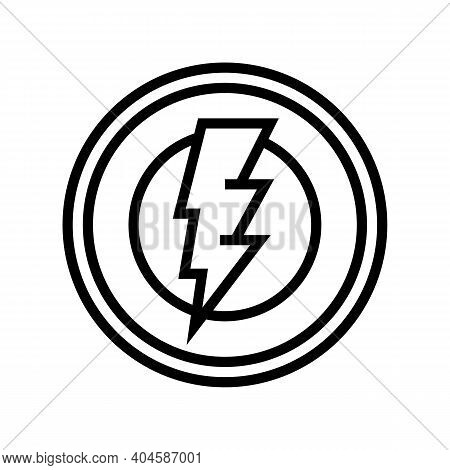 Electricity Service Sign Line Icon Vector. Electricity Service Sign Sign. Isolated Contour Symbol Bl