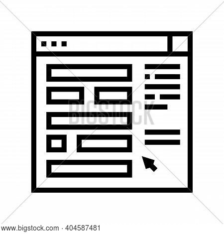Web Site Planning Line Icon Vector. Web Site Planning Sign. Isolated Contour Symbol Black Illustrati