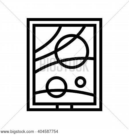 Picture Museum Exhibit Line Icon Vector. Picture Museum Exhibit Sign. Isolated Contour Symbol Black