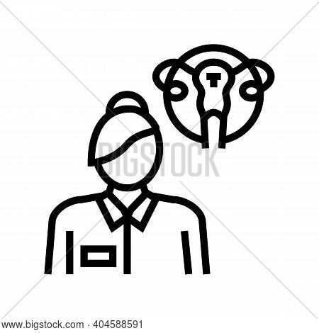 Gynecology Medical Specialist Line Icon Vector. Gynecology Medical Specialist Sign. Isolated Contour