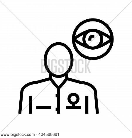 Ophthalmology Medical Specialist Line Icon Vector. Ophthalmology Medical Specialist Sign. Isolated C