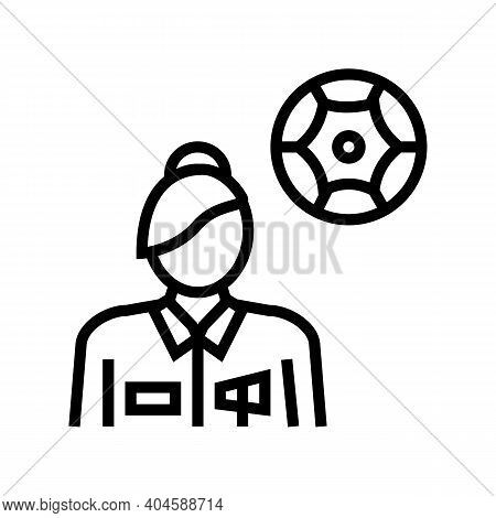 Neurology Medical Specialist Line Icon Vector. Neurology Medical Specialist Sign. Isolated Contour S