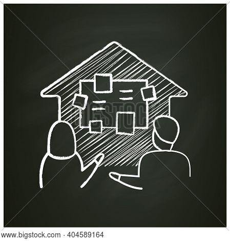 Homeschooling Curriculum Chalk Icon. Parents Determine The Curriculum Of Their Children. Online Educ