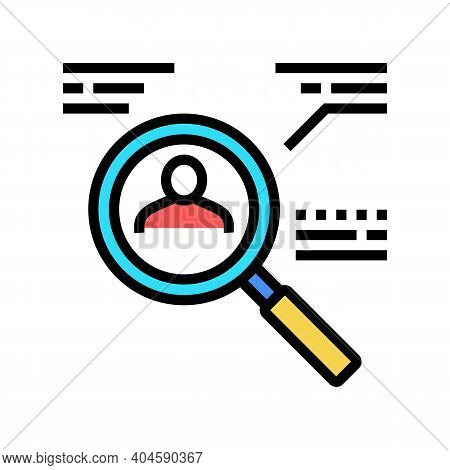 Candidate Research Color Icon Vector. Candidate Research Sign. Isolated Symbol Illustration