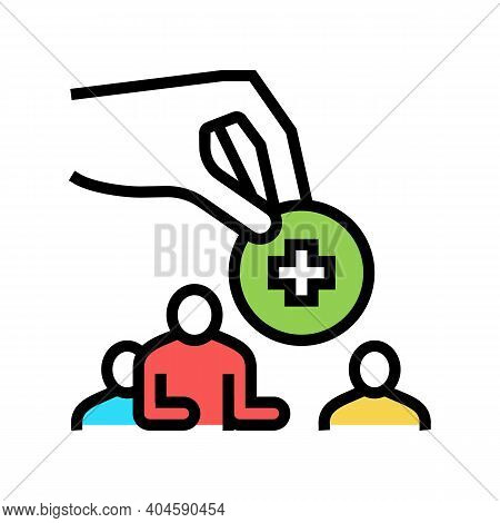 New Colleague Employee Color Icon Vector. New Colleague Employee Sign. Isolated Symbol Illustration