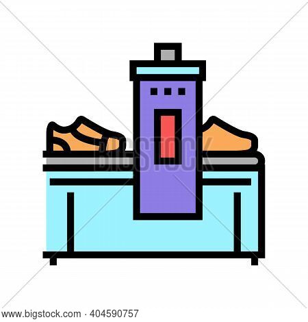 Shoes Making Machine Color Icon Vector. Shoes Making Machine Sign. Isolated Symbol Illustration