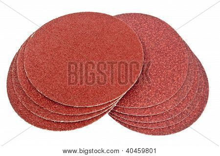 Disk Of Brown Sandpaper