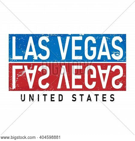 Las Vegas Typography Design Vector, For T-shirt, Poster And Other Uses