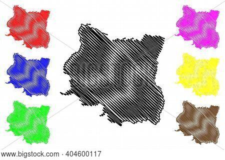 Province No. 1 (federal Democratic Republic Of Nepal, Administrative Divisions) Map Vector Illustrat