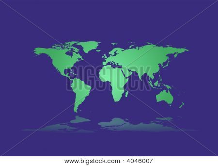 Illustration of a Earthmap made in