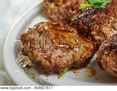 Akcaabat Meatballs - Akcaabat Koftesi,  Grilled Dish Of Minced Meat, A Type Of Kofte, Found Traditio