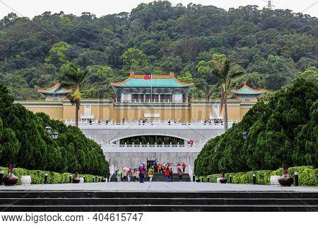 Taipei, Taiwan - March 12. 216: The Entrance Of The National Palace Museum Taipei,taiwan.