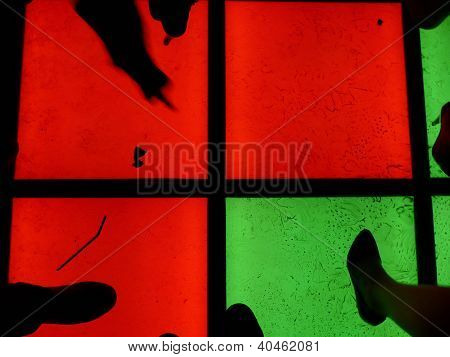 feet on dancing floor