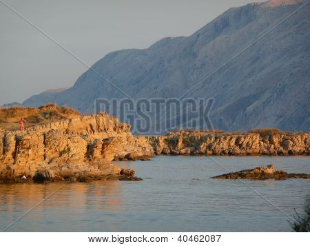 croatian rocky coast
