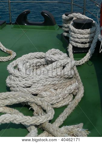 ropes on a ferry