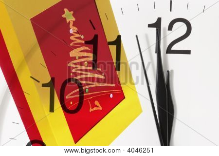 Gift Box And Clock
