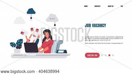 Recruitment Landing Page. Job Vacancy. Hiring Manager Finding Candidates For Vacant Positions, Choos